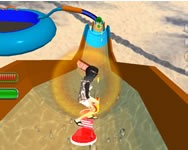 Water slide rush racing game